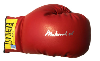 Muhammad Ali Autographed Vintage Everlast Red Boxing Glove Superstar Greetings