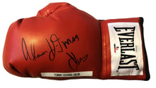 Tommy Hearns Signed Everlast Boxing Glove (JSA COA)