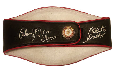 Thomas Hearns & Roberto Duran Signed WBA Full-Size Heavyweight Championship Belt