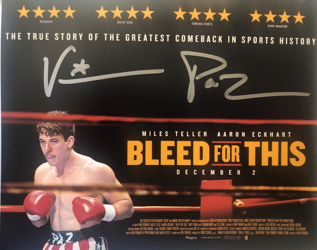 Vinny Paz Pazienza Signed Autographed 8X10 Photo