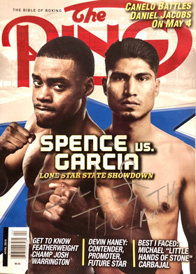 Errol Spence Jr. Silver Autographed and signed Boxing Magazine