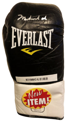 Muhammad Ali Autographed Black Everlast Old Vintage Boxing Gloves, Rare!