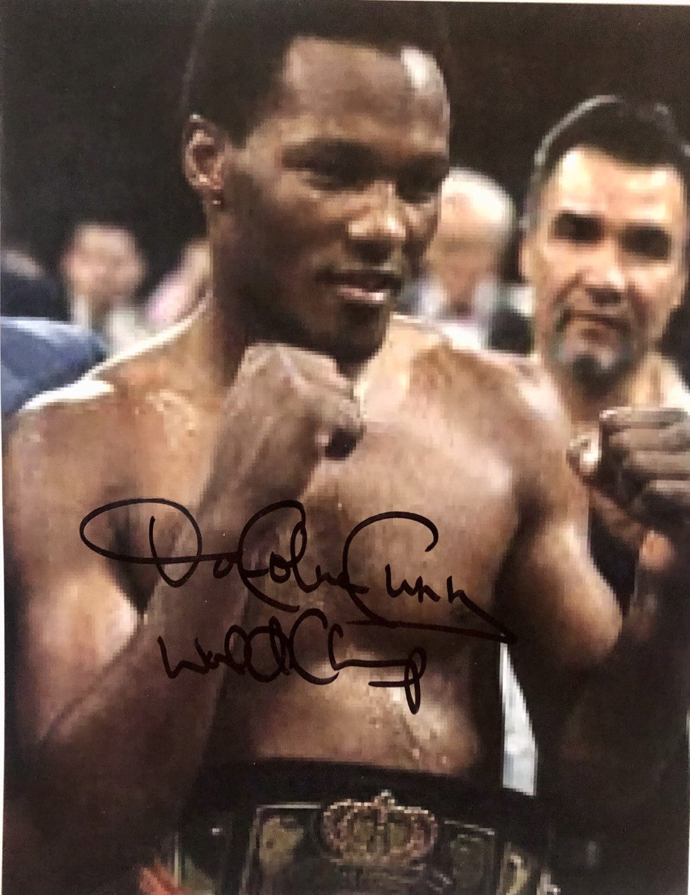 Donald Curry Hand-Signed 8x10 Autographed Boxing Photo