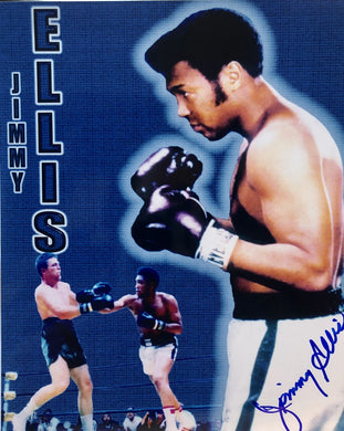 Jimmy Ellis Autographed Boxing signed 8x10 Photo, RARE!