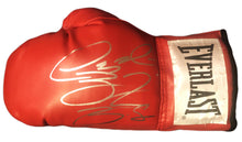 Deontay Wilder Red everlast Autographed boxing glove in silver marker. JSA