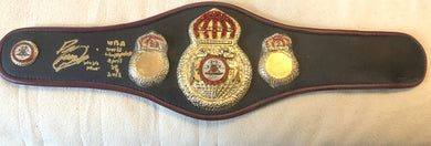 Paulie Malignaggi Signed mini-Size WBA Championship Boxing Belt, Inscriptions!