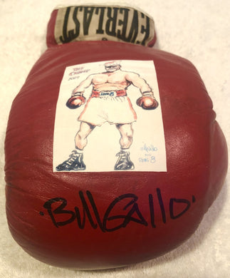 Bill Gallo Daily News Autographed Everlast Boxing Glove JSA