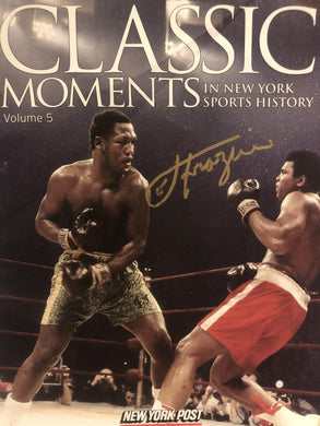 Joe Frazier Signed Autographed Rare Magazine vs Muhammad Ali in Gold