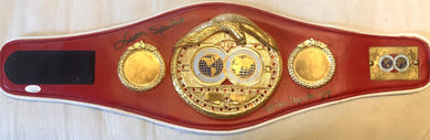 Leon and Michael Spinks Signed Med-Size IBF Autographed Championship Boxing Belt JSA