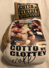 Cotto vs Clottey Autographed and silk screen Custom Boxing Glove