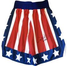 "Carl Weathers Signed Custom Boxing Trunks Inscribed ""Apollo Creed"""
