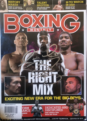 Deontay Wilder Autographed signed cover Boxing Monthly magazine