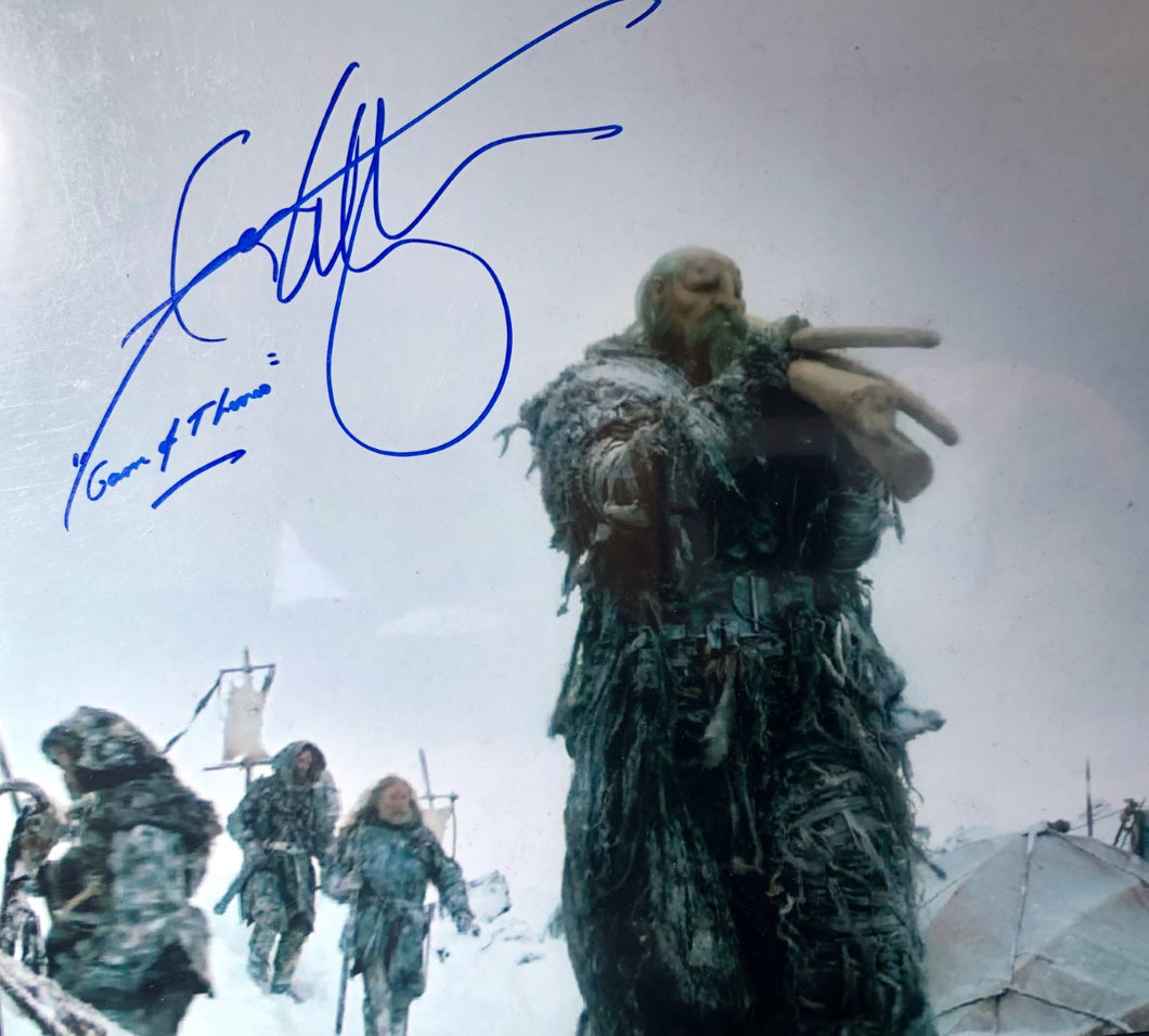 Ian Whyte Autograph 8x10 Photo Game of Thrones Wun Wun Signed JSA COA