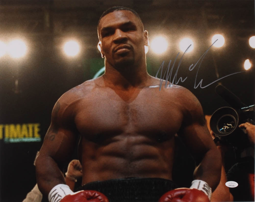 Mike Tyson Signed 16x20 Championship Photo (JSA COA)