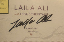 "Laila Ali autographed signed book ""Food For Life"" authentic Rare!"