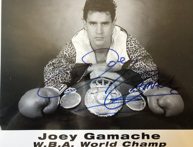 Joey Gamache Autographed signed Boxing photo RARE