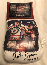 Nonito Donaire vs Narvaez Autographed and silk screen Custom Boxing Glove