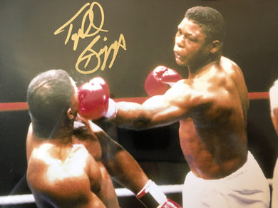 Tyrell Biggs Signed Authentic Autographed 8x10 Photo Gold Hand Signed COA