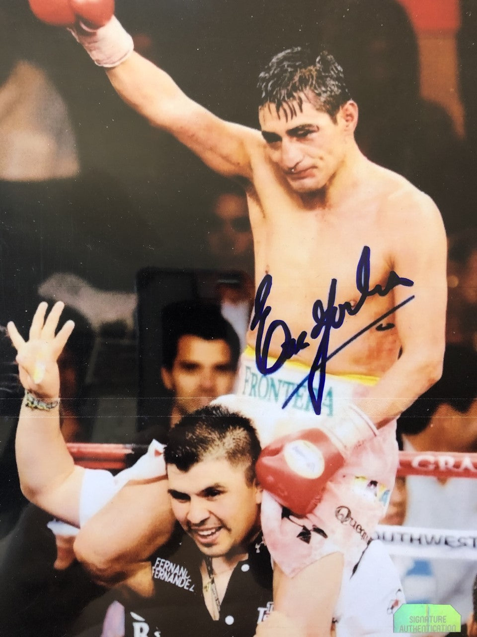 Erik Morales Autographed signed Boxing photo RARE