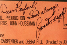 "Janet Leigh Signed Autographed John Carpenter's movie ""The Fog"" JSA"