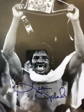 Leon Spinks Signed Autographed signed boxing photo 8x10 cert