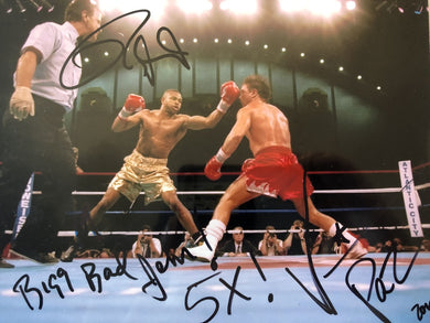Roy Jones & Vinny Paz Dual Signed Autographed 8x10 Hand Signed Photo COA