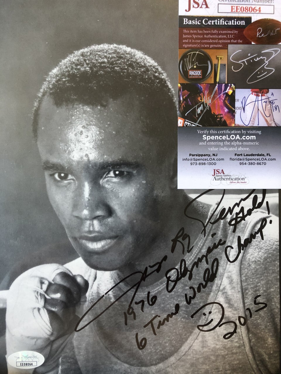 Four Kings Autographed Boxing Photo memorabilia Signed with Cert