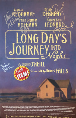 Brian Dennehy and Phillip Seymour Hoffman, Cast Autographed signed photo Long Day's Journey Into Night play Poster