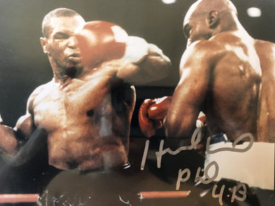 Evander Holyfield Autographed signed Boxing photo RARE