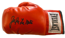 "Autographed Jake LaMotta ""The Ragging Bull"" Boxing Glove"