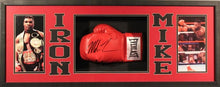 Mike Tyson Signed 15x39x4 Custom Framed Shadowbox Boxing Glove Display (JSA)