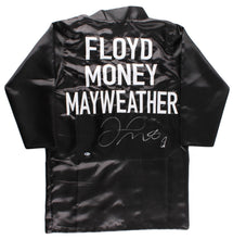 Floyd Mayweather Jr. Silver Signed Black Boxing Robe (Beckett COA)