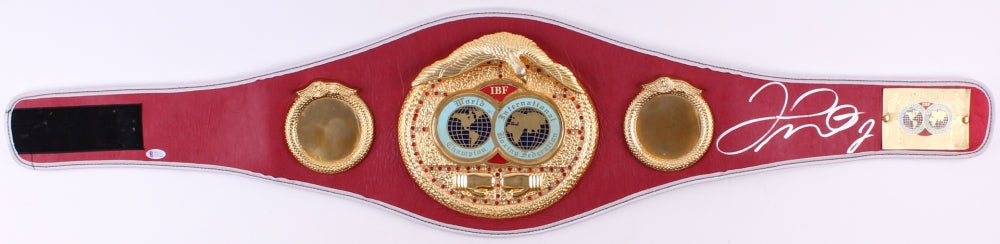 Floyd Mayweather Jr. Signed Red/Gold IBF Heavyweight Championship Belt (Beckett COA)