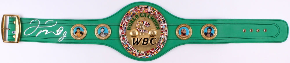 Floyd Mayweather Jr. Signed in Silver WBC Championship Full size Belt (Beckett COA)