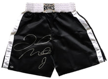 Floyd Mayweather Jr Signed Reyes Black Boxing Tunks (Beckett COA)
