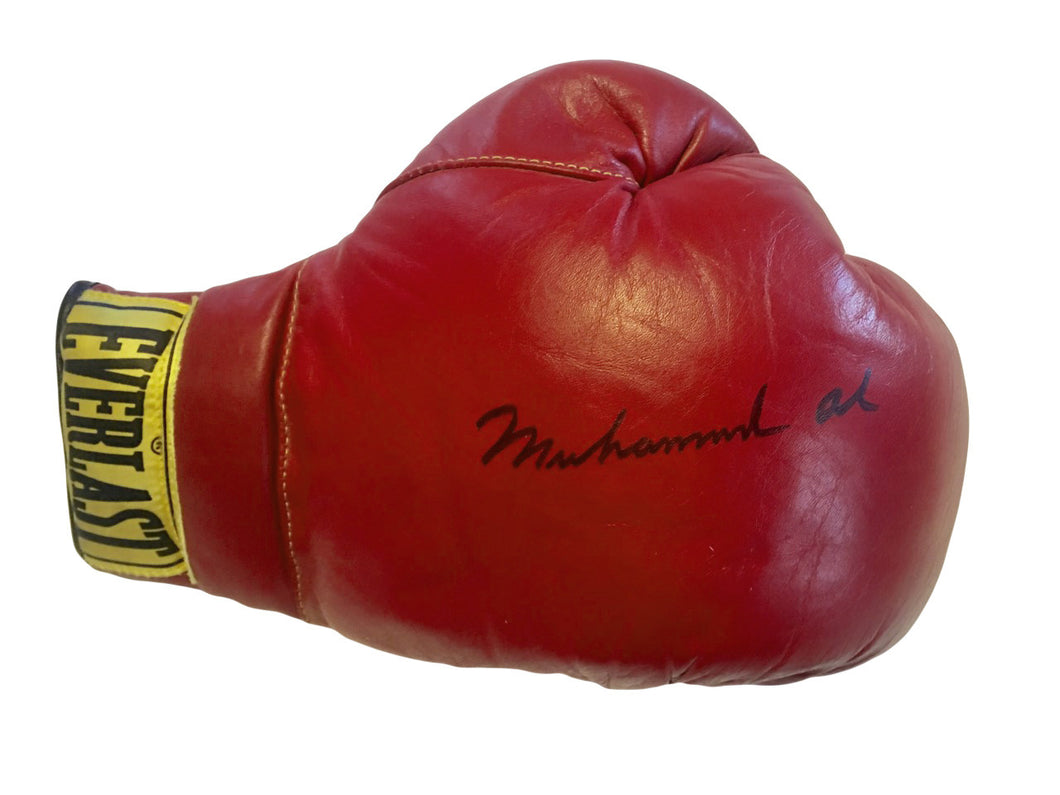 Muhammad Ali Autographed Everlast Old Vintage Boxing Gloves, Perfect Condition!