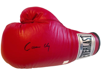 Cassius Clay Autographed Everlast Boxing Glove with Steiner sports and SSG Dual certification