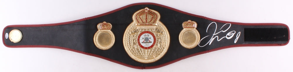 Floyd Mayweather Jr. Silver Signed in Full-Size WBA Championship Belt (Beckett COA)