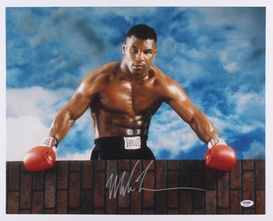 Mike Tyson Signed 16x20 Championship Photo (PSA COA)
