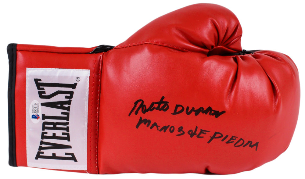 Roberto Duran Signed Everlast Boxing Glove Inscribed
