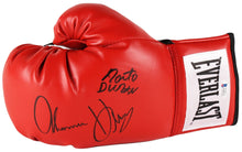 Roberto Duran & Tommy Hearns Dual Signed Everlast Boxing Glove (Beckett COA)