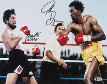 Tommy Hearns & Roberto Duran Signed 11x14 Photo (Beckett COA)