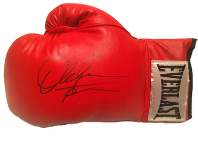 Amir Khan Hand signed Everlast Red Boxing Glove