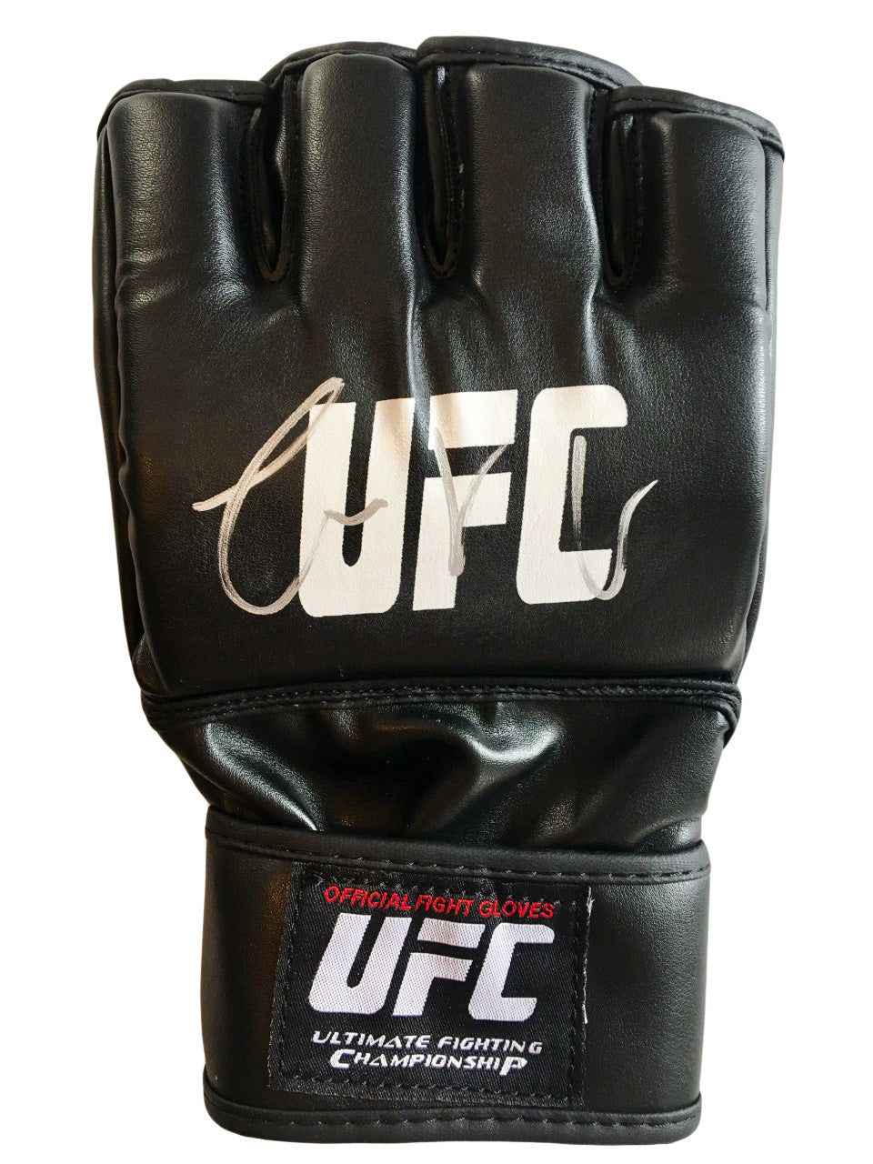 Conor McGregor Autographed UFC Gloves in a Silver Marker Size XX-Large