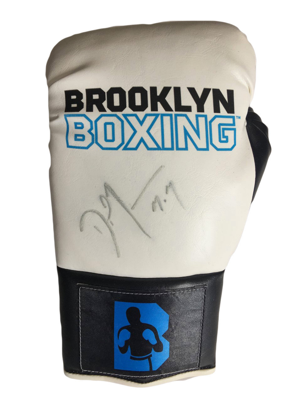 Danny Jacobs Autographed Brooklyn Boxing Glove with a Silver Marker.