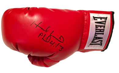 Evander Holyfield Autographed Red Everlast Boxing Glove