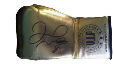 Floyd Mayweather Jr. Gold VIP Rare Autographed Boxing Glove with Photo Proof.