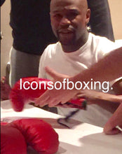 Floyd Mayweather signed autographed Winning Red color Boxing Glove Full JSA Letter