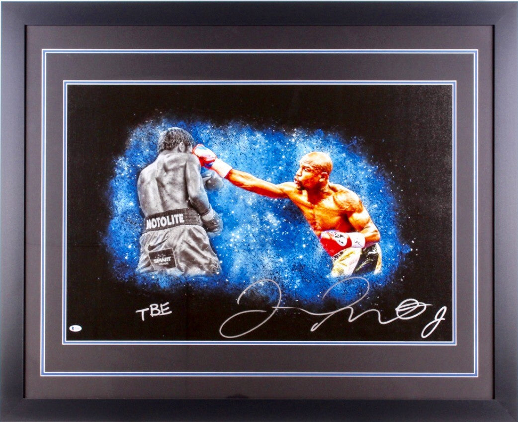 Floyd Mayweather Jr. Signed 35 x 43 Custom Framed Photo Inscribed