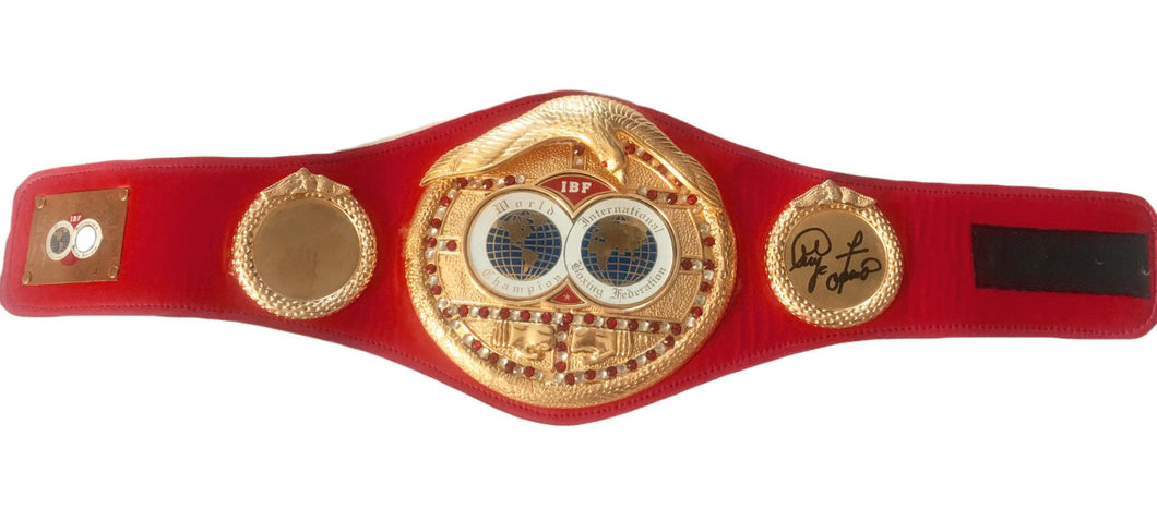 George Foreman Autographed IBF Championship Boxing Belt Med Size.